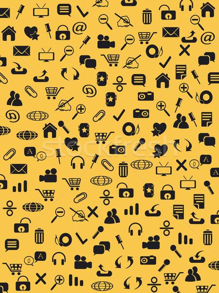 Web simgeleri model sarı kâğıt doku Stok fotoğraf © huhulin