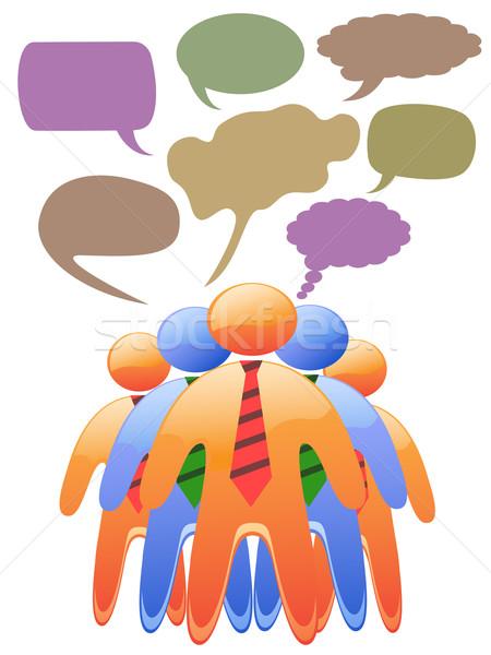 Social símbolo pessoas falar cor Foto stock © huhulin