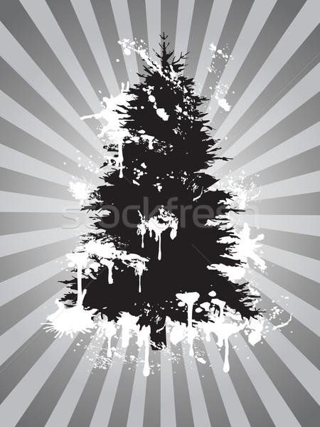 Sujo árvore de natal textura abstrato luz fundo Foto stock © huhulin