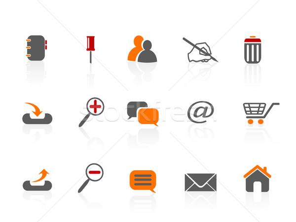 веб Интернет иконы дизайна дома стороны пер Сток-фото © huhulin