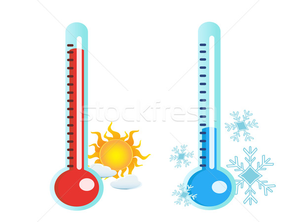 thermometer in hot and cold temperature Stock photo © huhulin