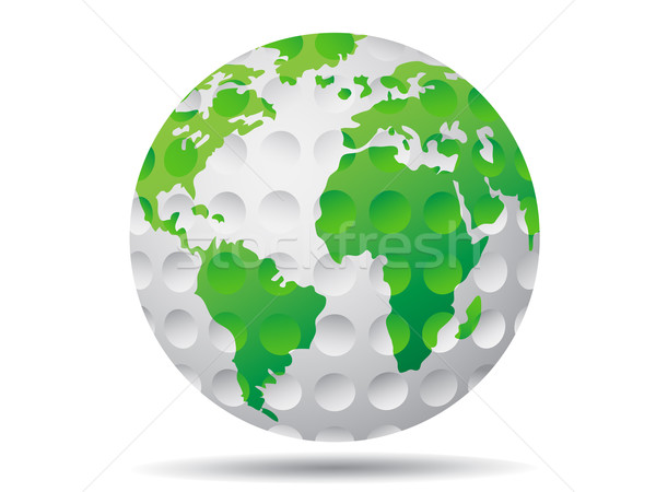 isolated golf earth Stock photo © huhulin