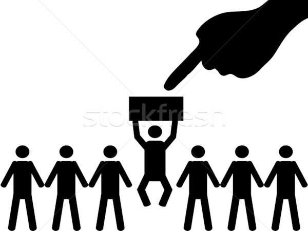 Pessoa selecionado grupo emprego mulher abstrato Foto stock © huhulin