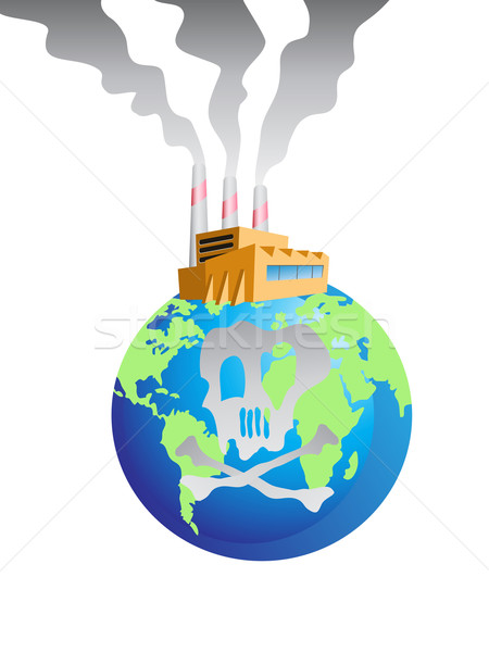polluted earth Stock photo © huhulin