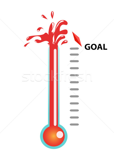 goal thermometer vector illustration © Lin Nai Hen (huhulin ...