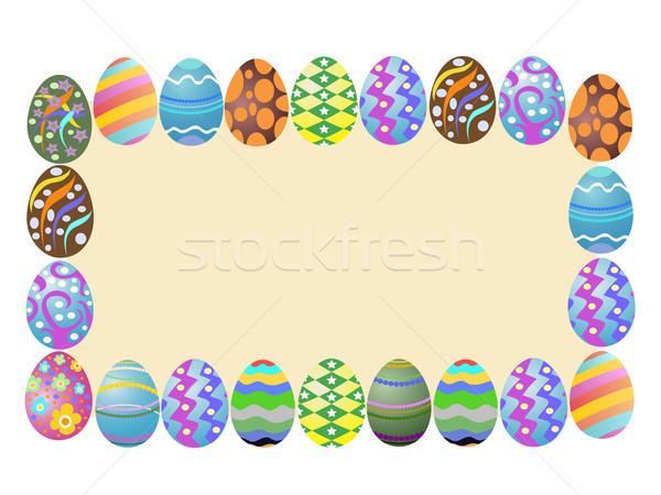 easter eggs banner Stock photo © huhulin