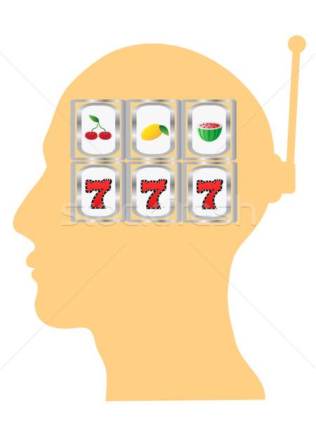 thinking of slot gambling  Stock photo © huhulin
