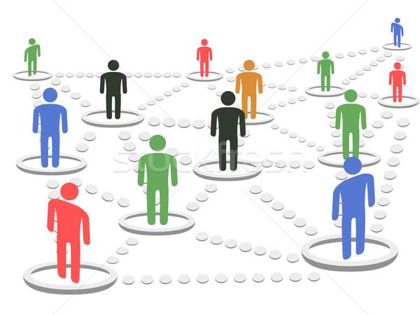 Business network odizolowany biały działalności Internetu spotkanie Zdjęcia stock © huhulin