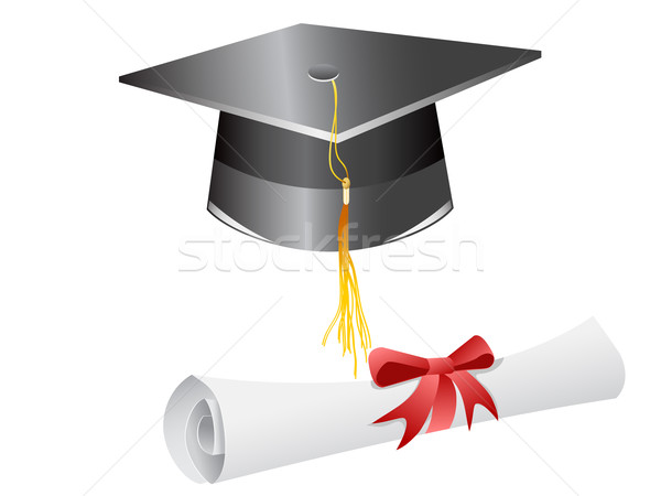 graduation cap and diploma  Stock photo © huhulin