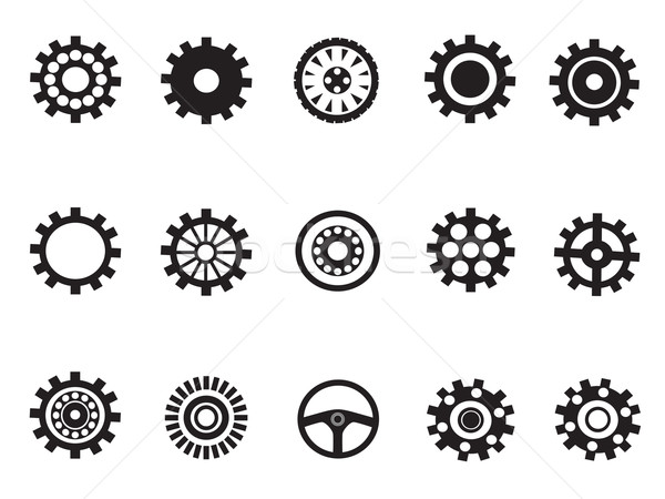 silhouetted vector of Machine Gear Stock photo © huhulin