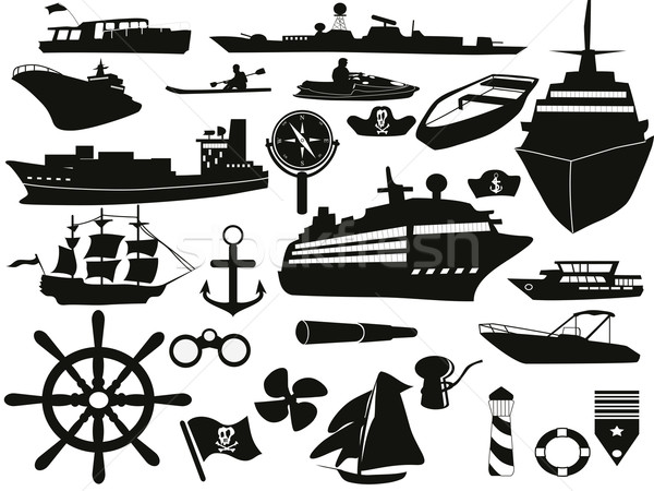 sailing objects icon set Stock photo © huhulin