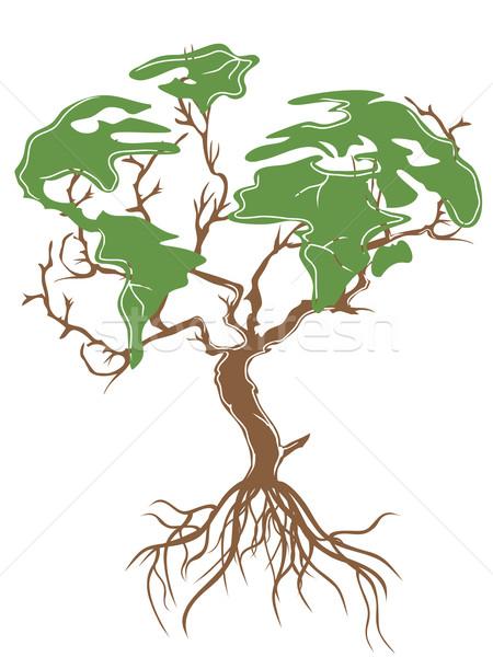 green earth tree Stock photo © huhulin