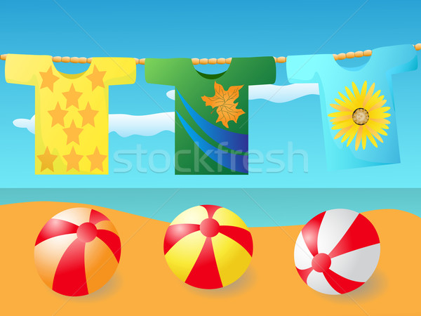 T shirt at the beach Stock photo © huhulin