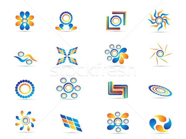 colorful abstract elements for design Stock photo © huhulin