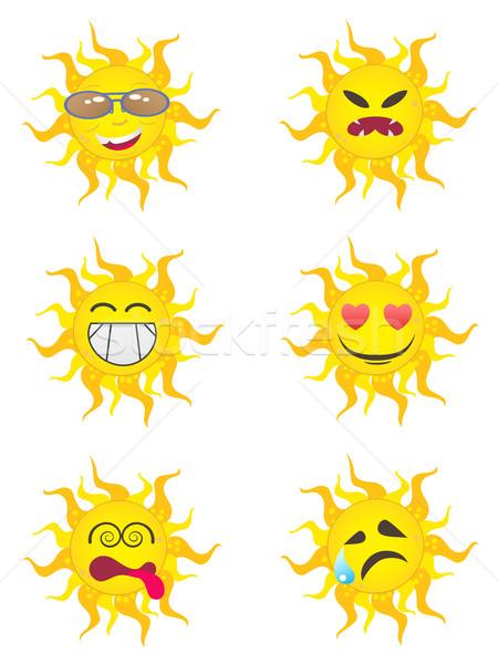 Sol desenho animado projeto cara verão Foto stock © huhulin