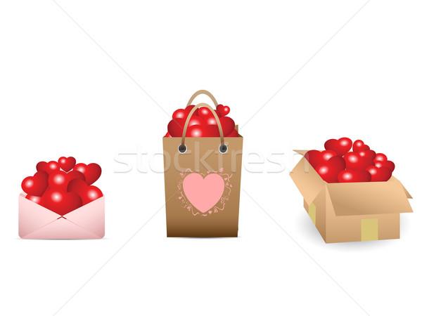ストックフォト: フル · 愛 · 心 · デザイン · ショッピング · にログイン