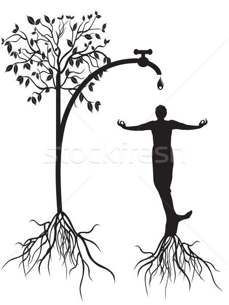 watering tree man Stock photo © huhulin