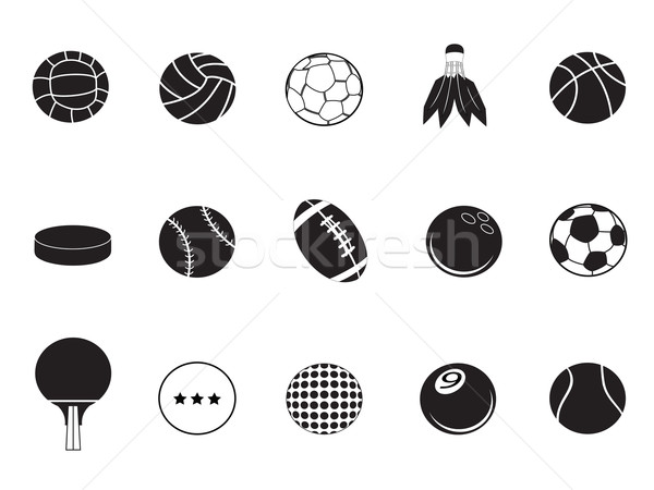 ball icons collection Stock photo © huhulin