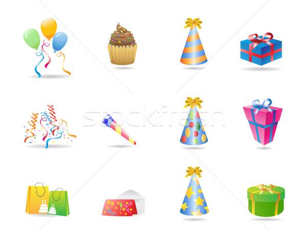 birthday icon Stock photo © huhulin