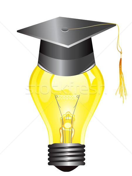 smart light bulb with mortar board Stock photo © huhulin