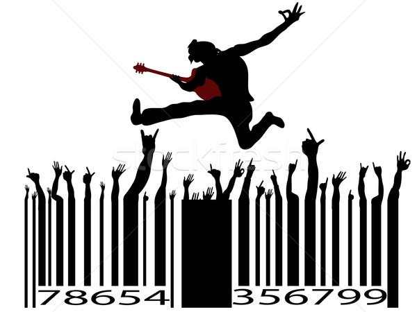 Rockzene vonalkód fehér üzlet buli absztrakt Stock fotó © huhulin