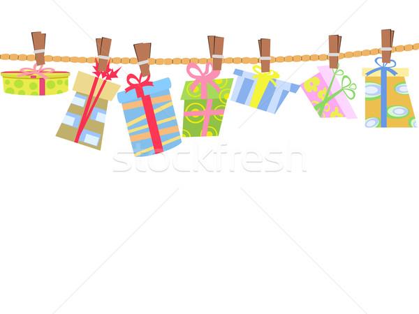 hanging gift box Stock photo © huhulin
