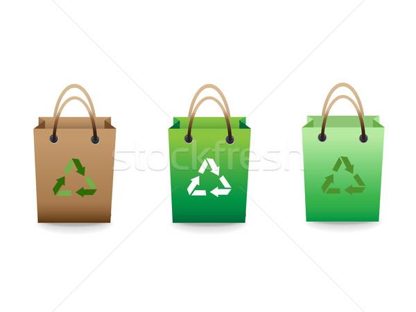 Verde venta reciclar signo diseno Foto stock © huhulin