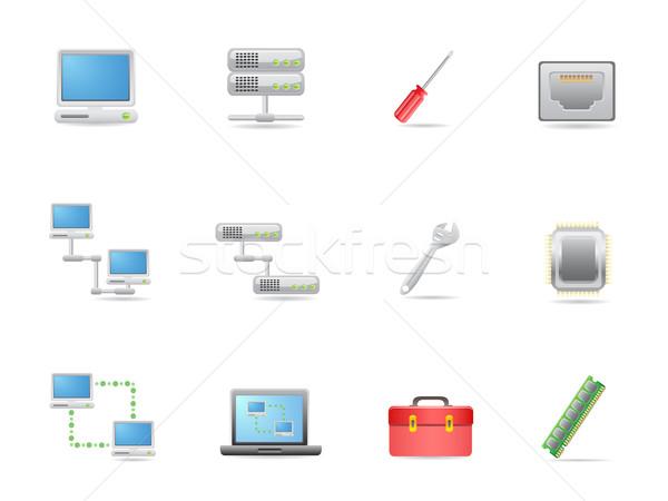 ハードウェア アイコン デザイン インターネット ノートパソコン ストックフォト © huhulin