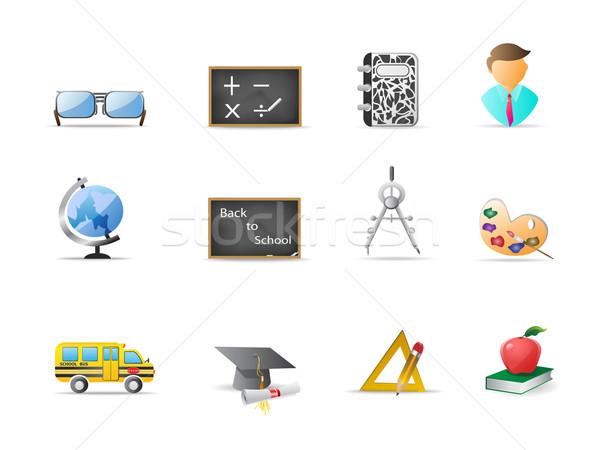教育 アイコン 紙 インターネット 世界中 学校 ストックフォト © huhulin