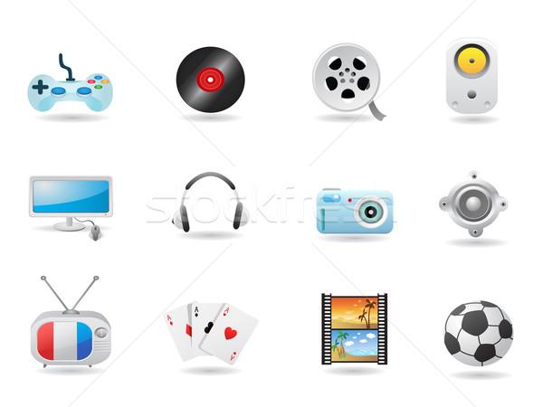 Foto d'archivio: Intrattenimento · web · design · internet · calcio · televisione