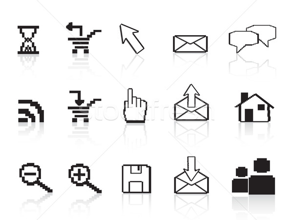 pixel computer icons Stock photo © huhulin