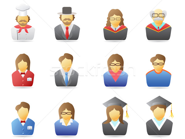 Stock photo: portrait icons set