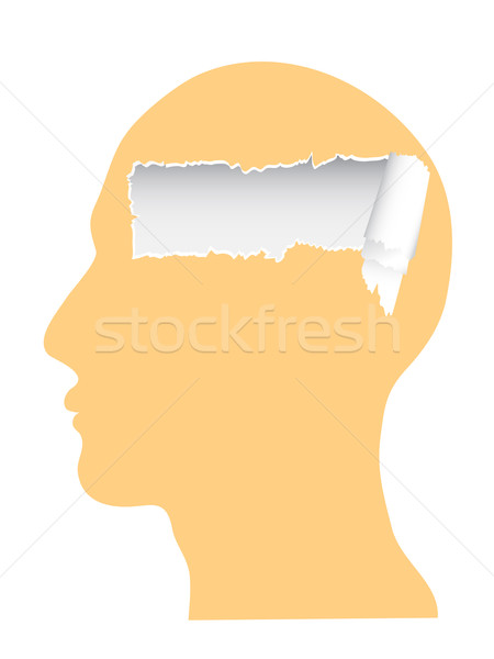 the head with ripped copy-space Stock photo © huhulin