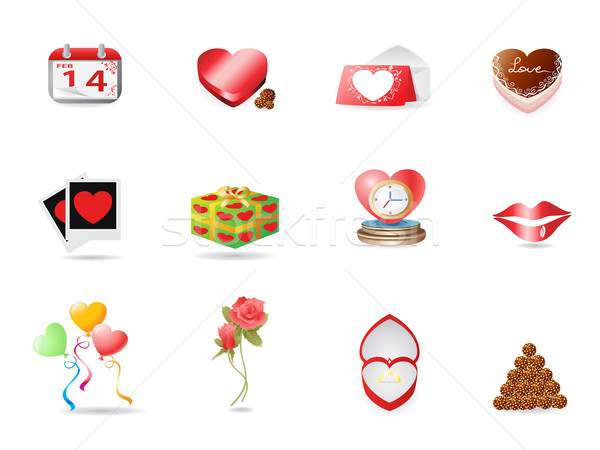 Valentine's day icon Stock photo © huhulin