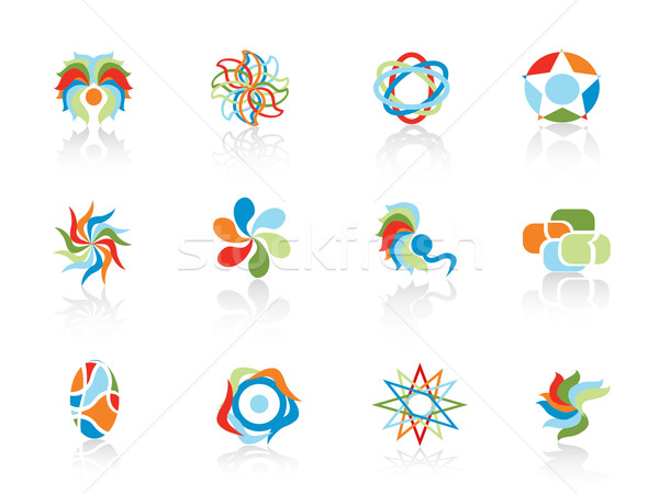 set of color abstract elements Stock photo © huhulin