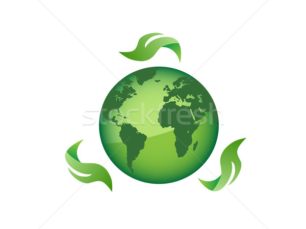 globe surrounding with leaves  Stock photo © huhulin