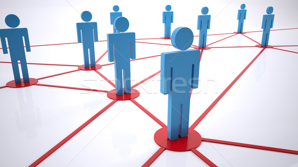 network people Stock photo © hyrons