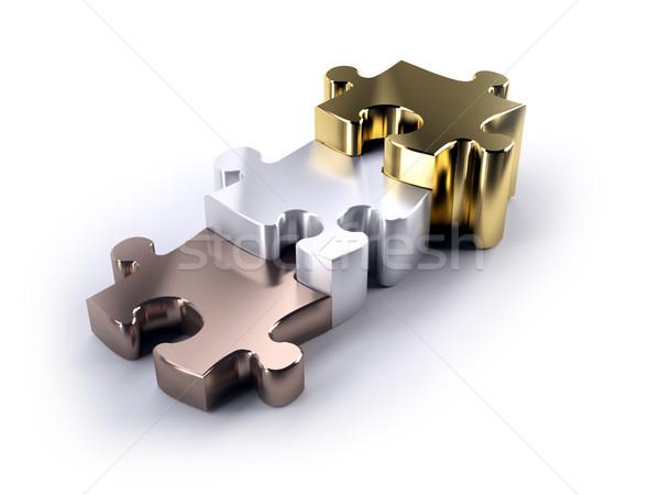 Fűrész bronz ezüst arany absztrakt háttér Stock fotó © hyrons