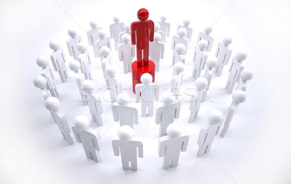 team leader Stock photo © hyrons