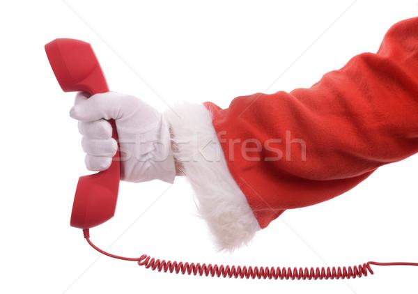 Karácsony hív gyűrű felfelé ajándékok rendelés Stock fotó © hyrons