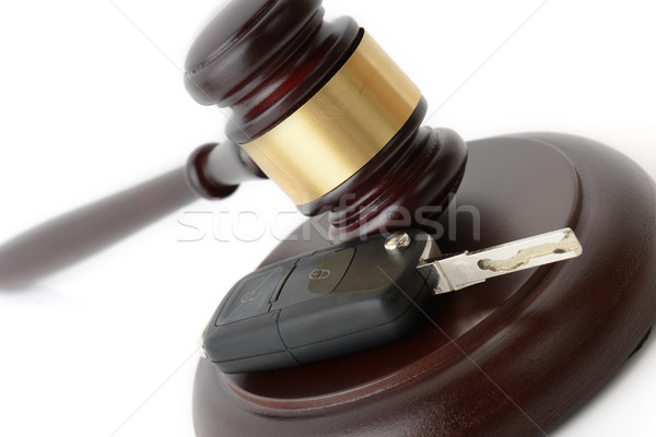 Autó törvény jogi szállítás kalapács bűnösség Stock fotó © hyrons