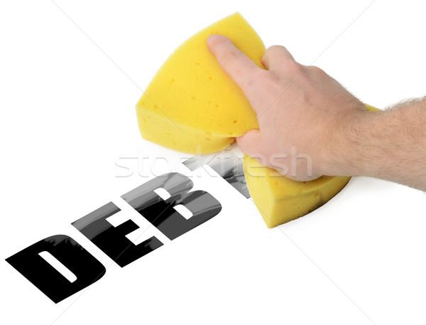 Borç yol sünger finanse temizlik depresyon Stok fotoğraf © hyrons