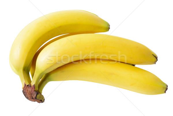 Bananen bos geïsoleerd witte achtergrond huid Stockfoto © hyrons
