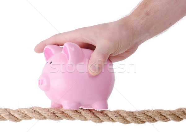 Stock photo: saving on the line
