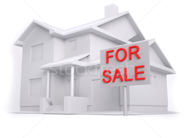 3D house for sale Stock photo © hyrons