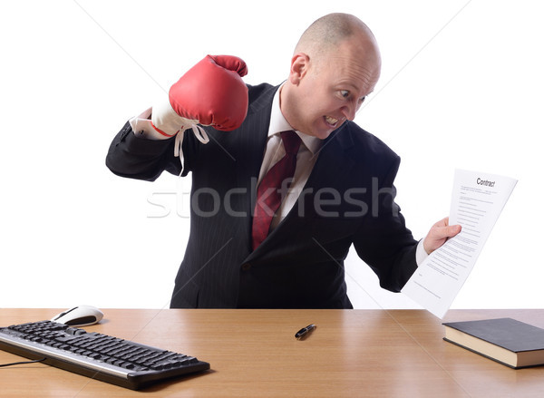 Businessman unhappy with contract Stock photo © hyrons