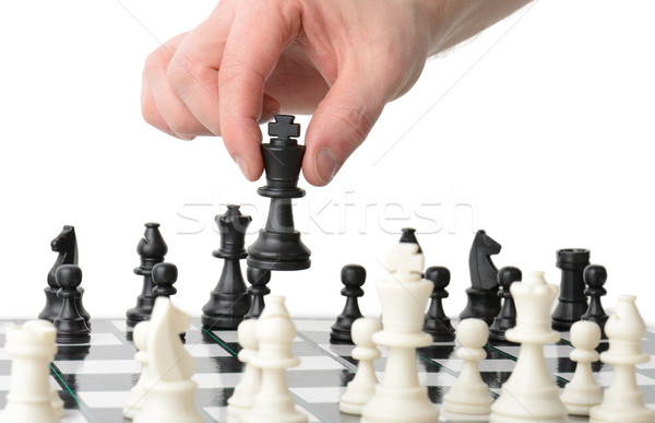 Stratégiai mozgás készít izolált fehér üzlet Stock fotó © hyrons