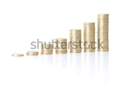 growing coin stacks Stock photo © hyrons