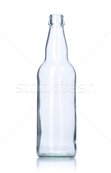 Stock photo: clear empty glass bottle