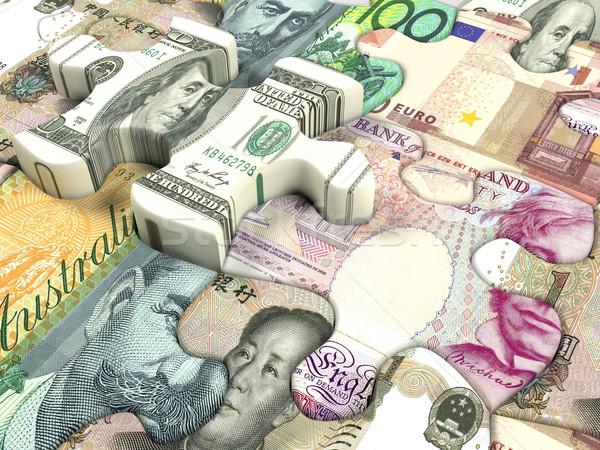 Wereld valuta uitwisseling business dollar Stockfoto © hyrons